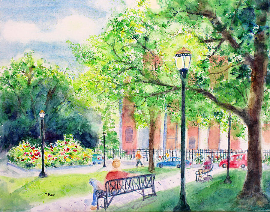 Cathedral Square in Spring by Jerry Fair
