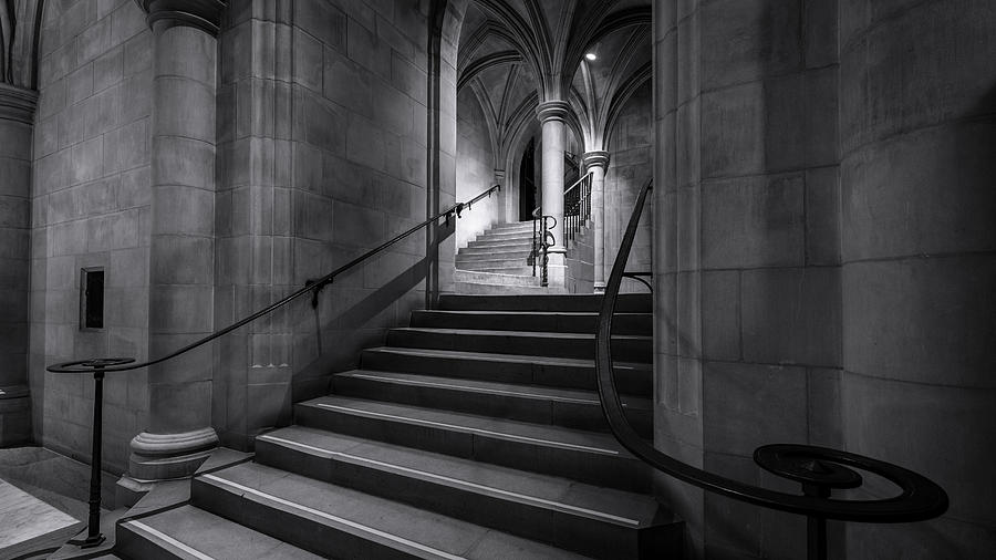 Alexandria Photograph - Cathedral Stairwell by Michael Donahue