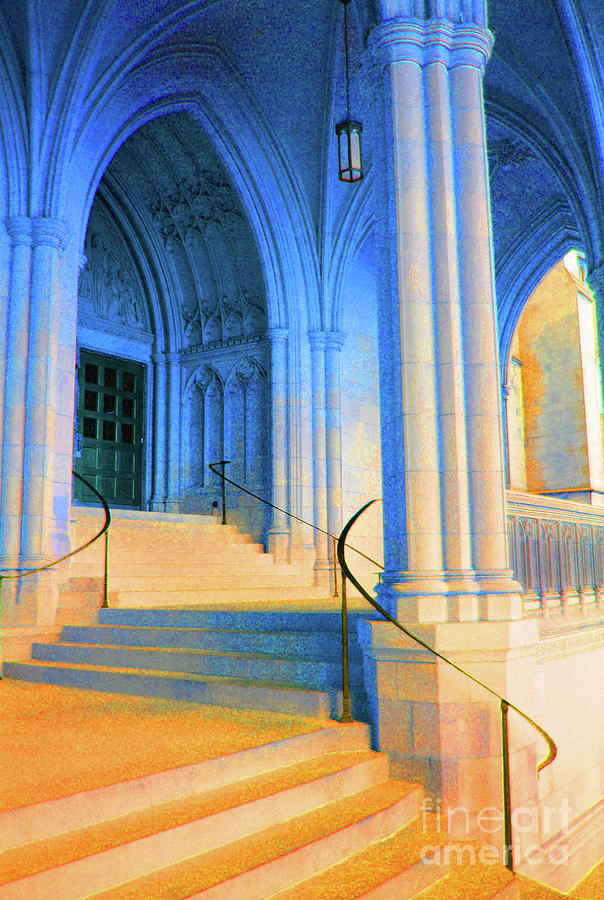 Washington Photograph - Cathedral Steps by Jost Houk