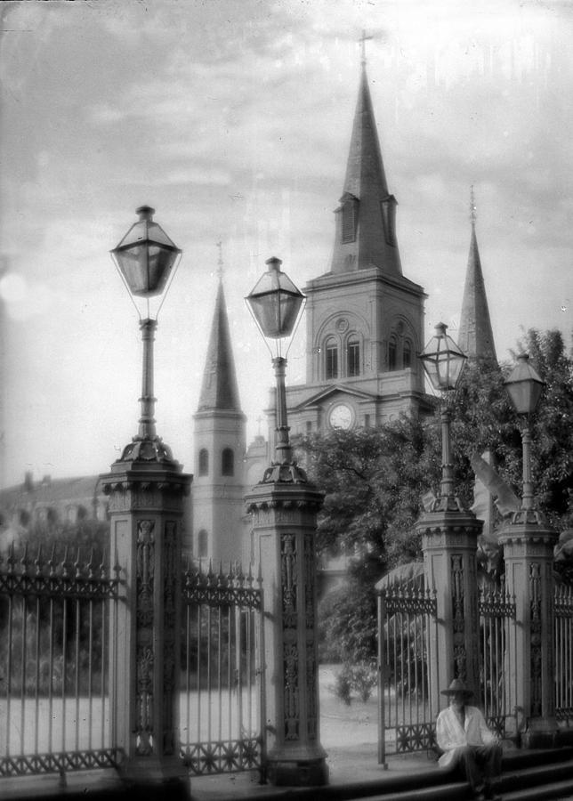 St Louis Cathedral Photograph - Cathedral Through Gateway by Crescent City Collective