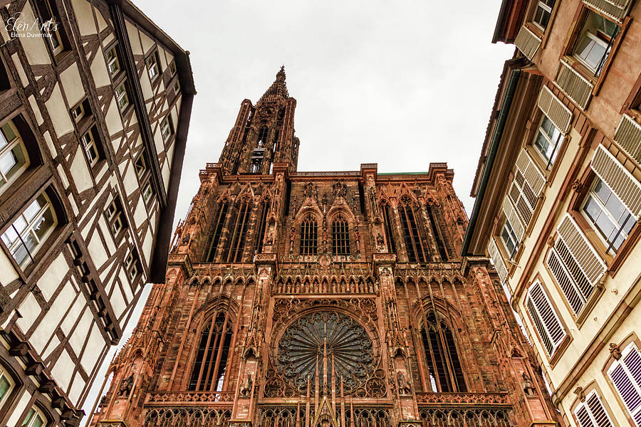 Cathedrale Notre-Dame or Cathedral of Our Lady in Strasbourg, Al by Elenarts - Elena Duvernay photo