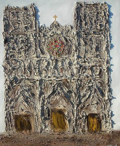 Cathedrale3 Painting by Patrice Brunet