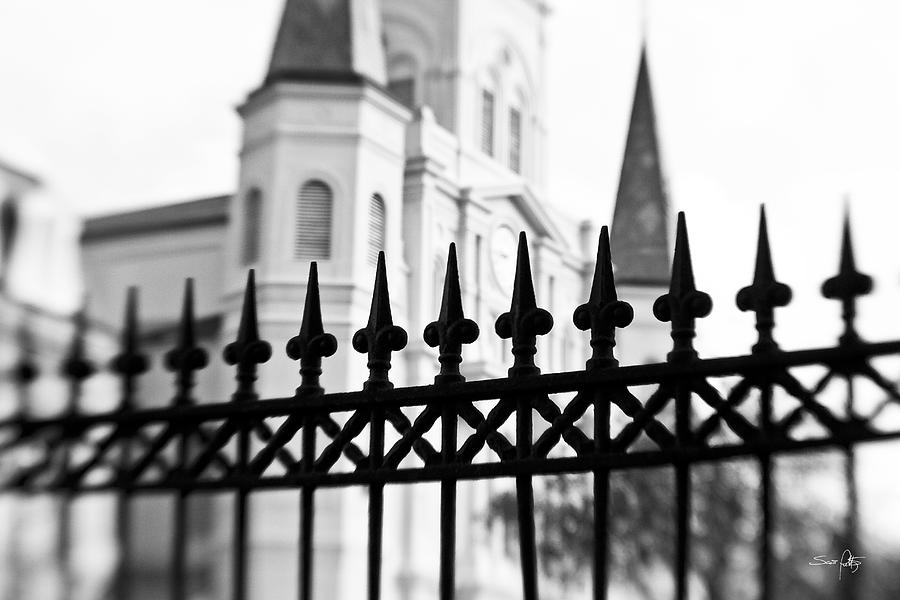 St. Louis Cathedral Photograph - Catheral Basilica by Scott Pellegrin