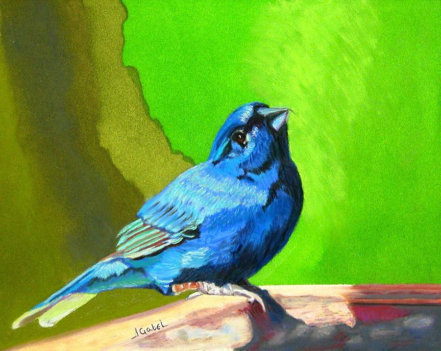 Blue Pastel - Catherines Springtime by Laura Gabel