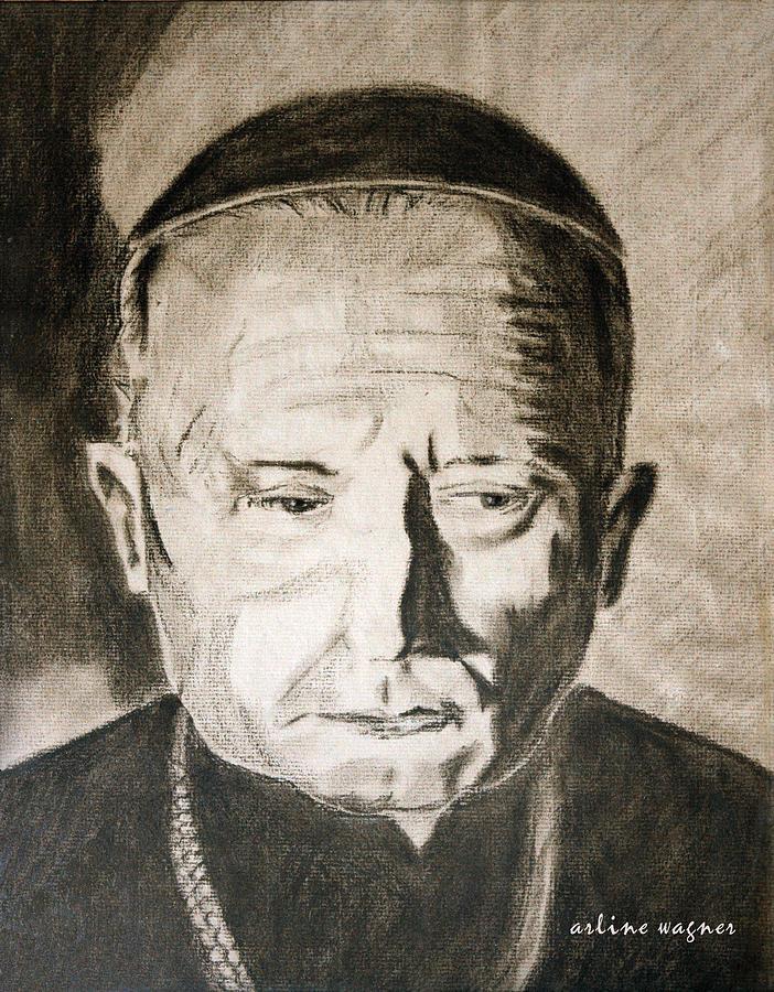 Catholic Pastel - Catholic Cardinal Jozsef Mindszenty by Arline Wagner