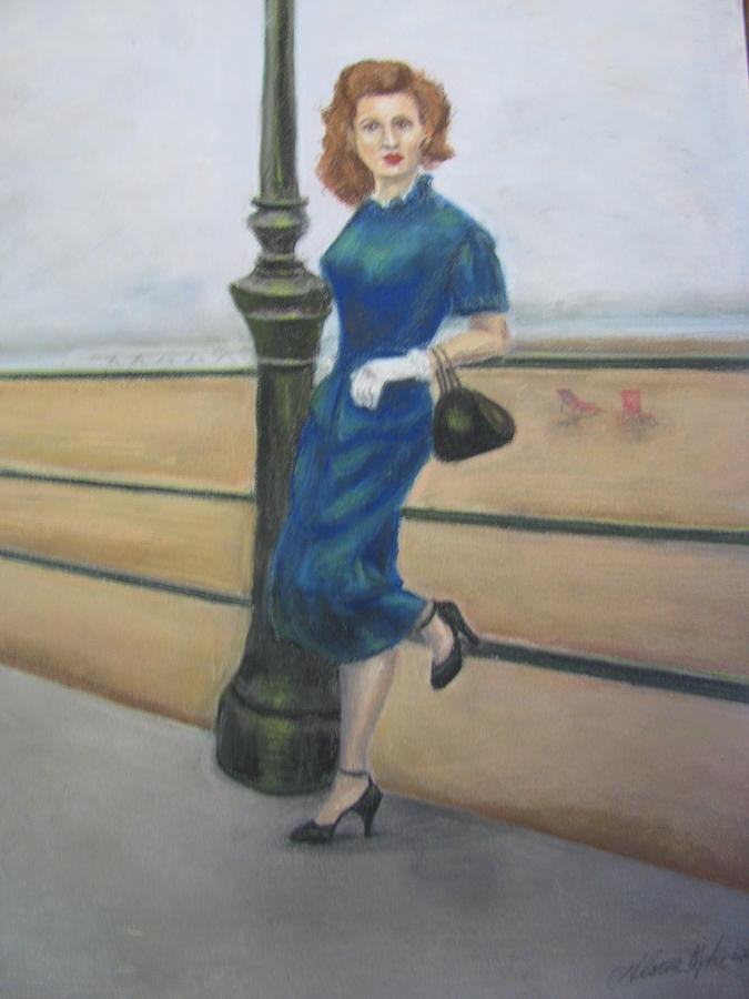 Painting Painting - Cathy World War II Wives by Gloria Byler