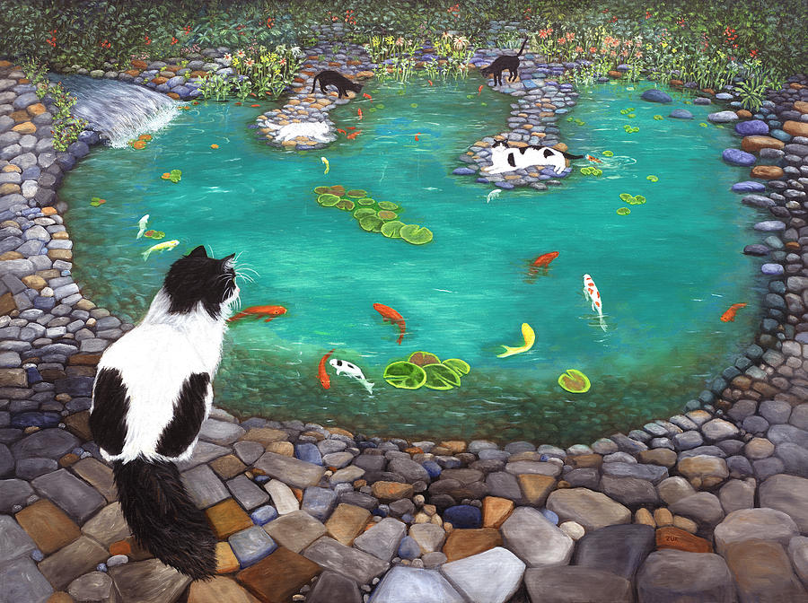 Cats and Koi by Karen Zuk Rosenblatt