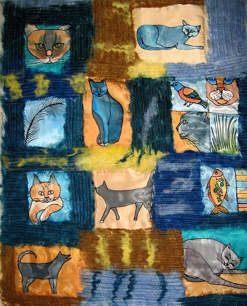 Cat Tapestry - Textile - Cats Diaries by Aliza Souleyeva-Alexander