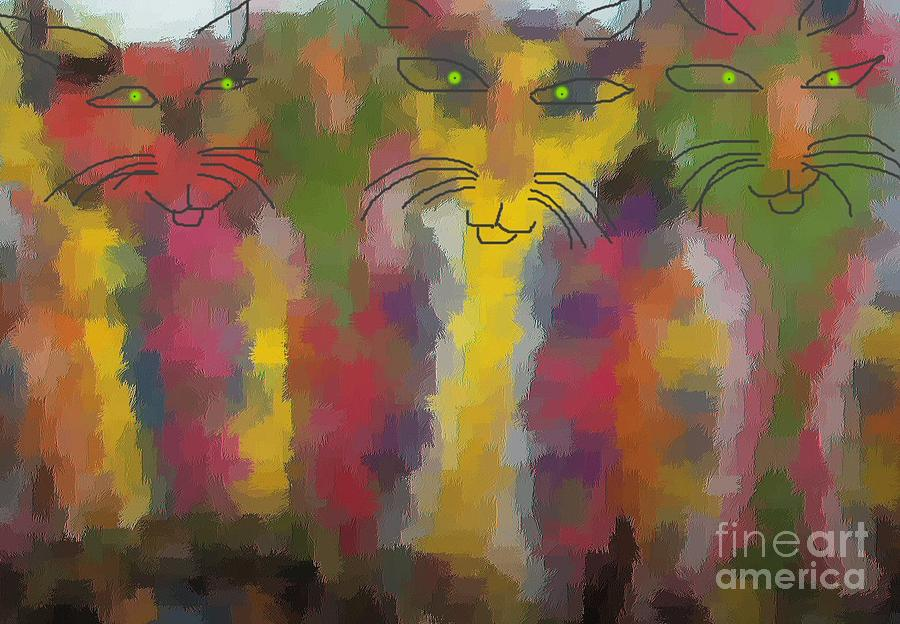 Cats Painting by Don Phillips