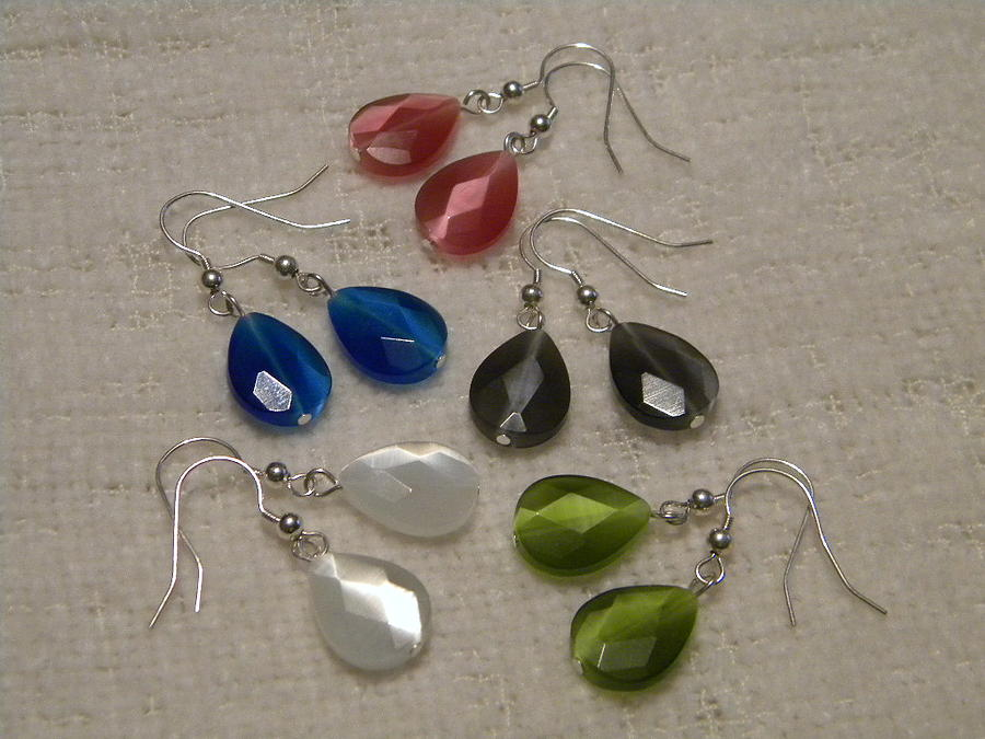 Jewelry Jewelry - Cats Eye Teardrop Earrings by Amanda Heavlow