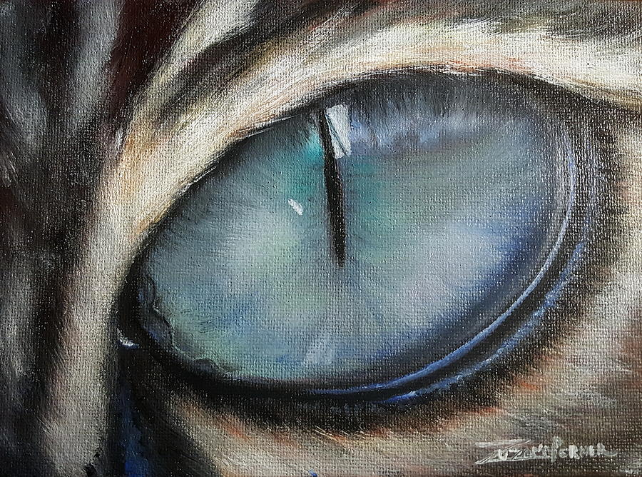 Cat Painting - Cats Eye by Zuzana Perner
