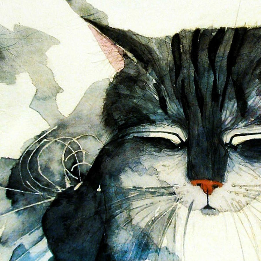 Cat Painting - Cats Whiskers by Paul Lovering
