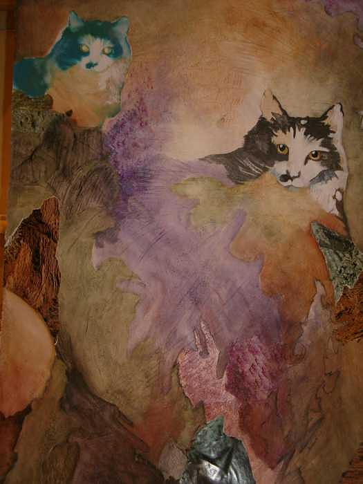 Catscape Painting by Claudia Stewart