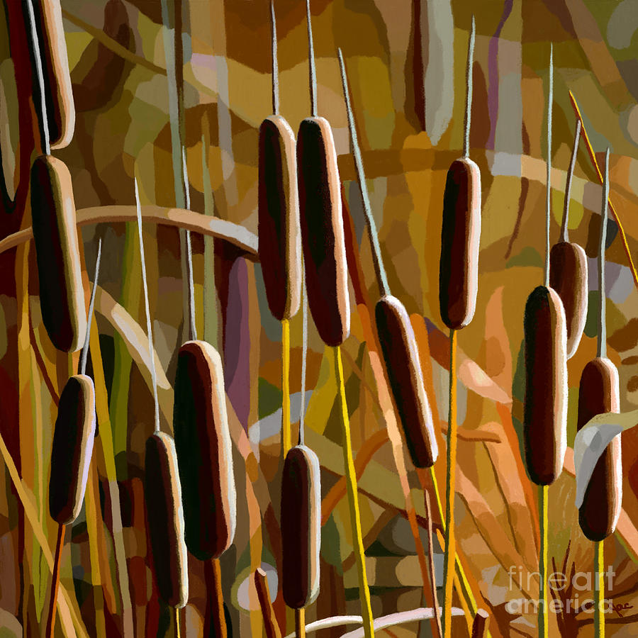 Cattails Shine by Jackie Case