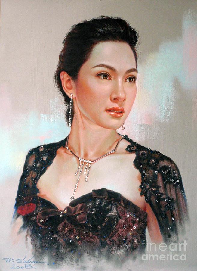 Portrait Painting - Catthaleeya by Chonkhet Phanwichien