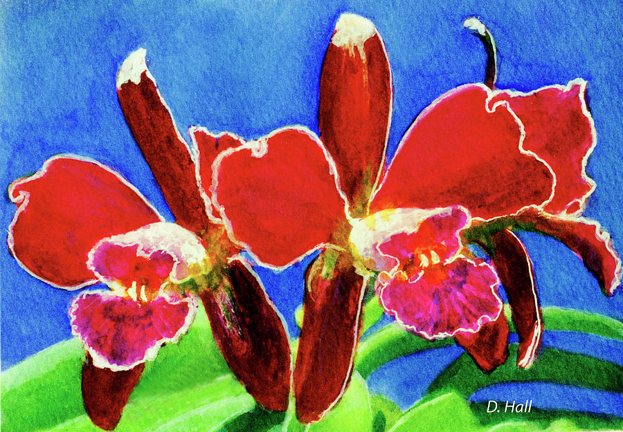 Prints Painting - Cattleya Orchids Flowers #215 by Donald k Hall