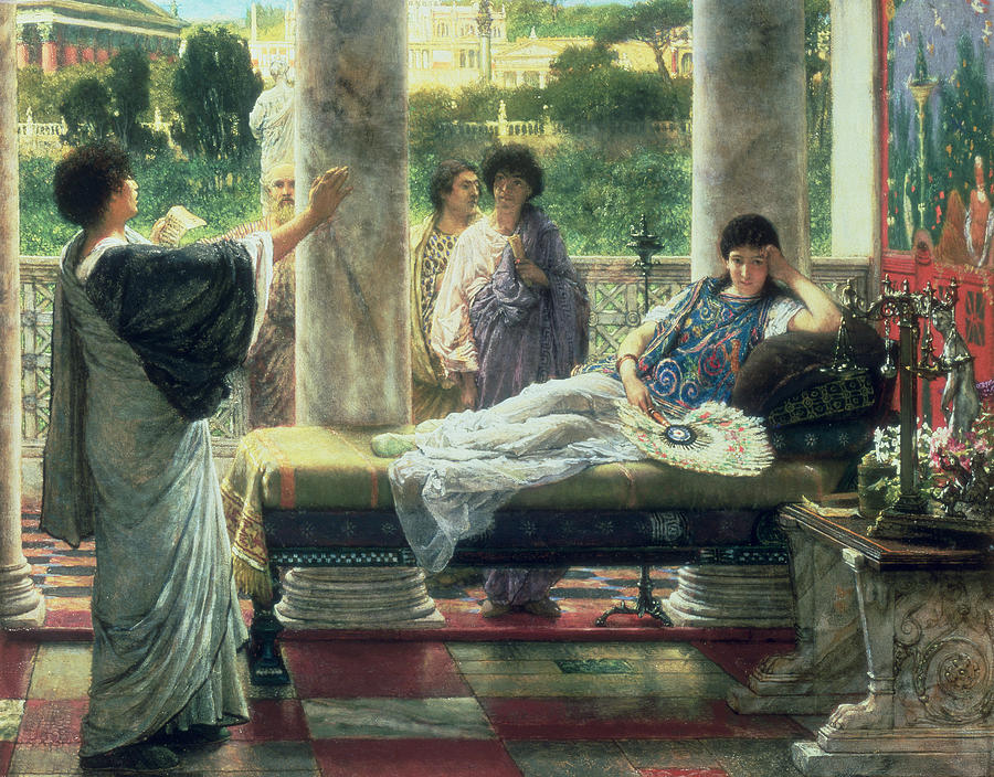 Literature Painting - Catullus Reading His Poems by Sir Lawrence Alma Tadema