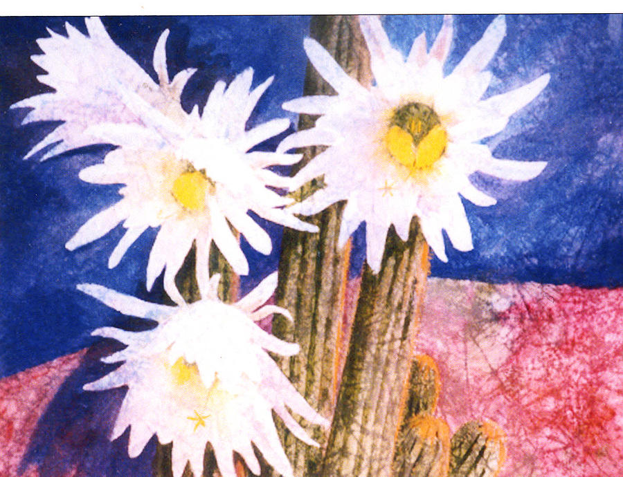 Landscape Painting - Catus Bloom by Florence Unkeless