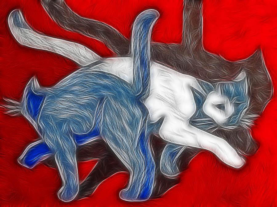 Cats Painting - Catwalk by Joachim G Pinkawa