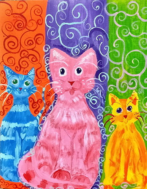 Cats Painting - Catz Of Color by Brandy Shelton
