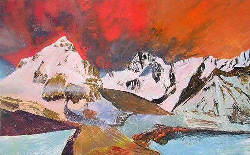 Landscape Painting - Caucasia Mountains 015 by Valeriy Grachov