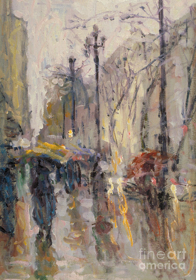 Plein-air Painting - Caught In A Storm Of Wonder by Jerry Fresia