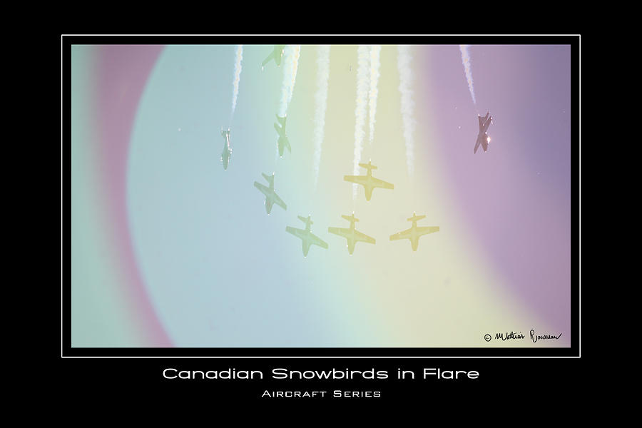 Canadian Snowbirds Photograph - Caught In Flare by Mathias Rousseau