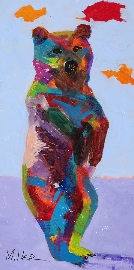 Bears Painting - Caught In The Act by Tracy Miller