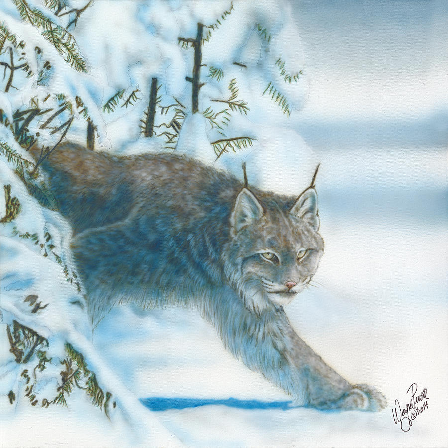Animal Painting - Caught In The Open by Wayne Pruse
