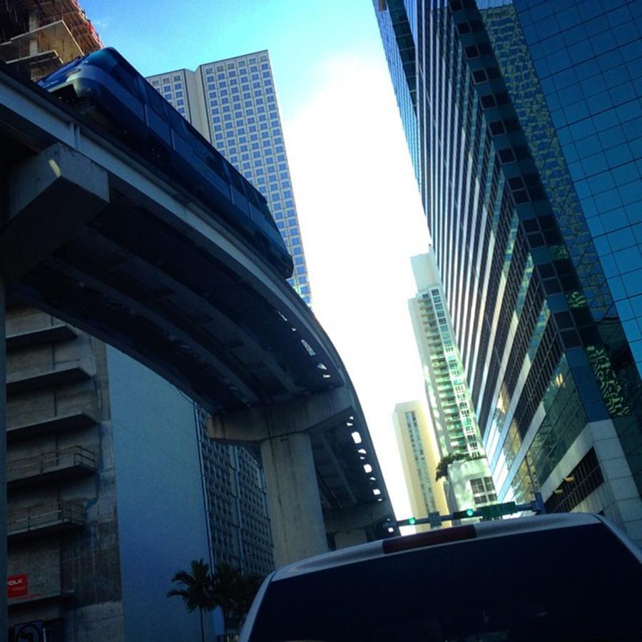 Caught In Traffic In Brickell, Miami, Fl Photograph by Juan Silva