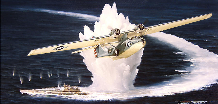 Military Painting - Caught on the Surface by Marc Stewart