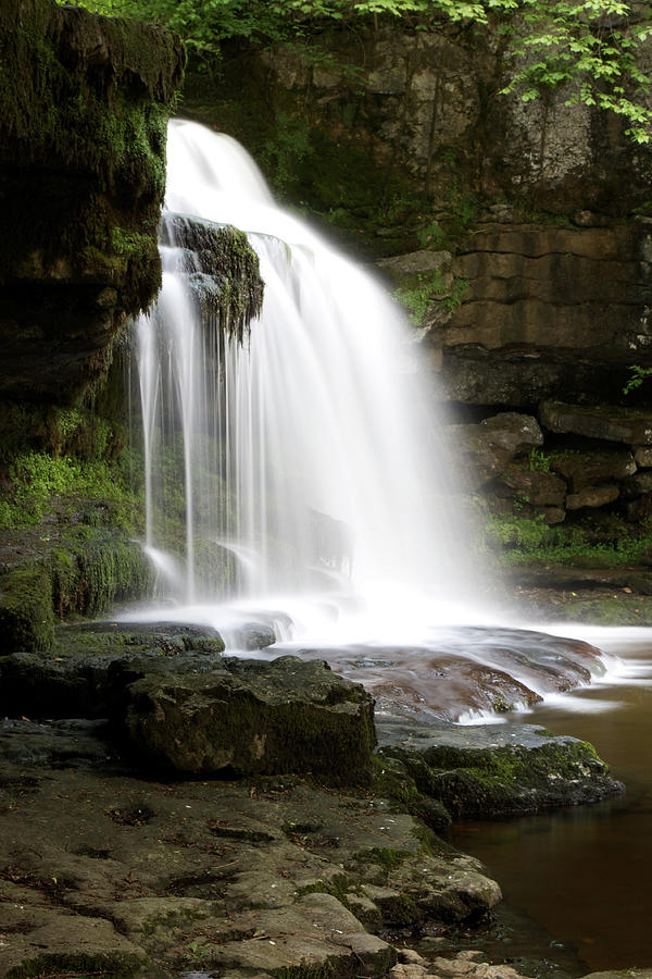 West Burton Photograph - Cauldron Falls, West Burton, North Yorkshire by David Handson
