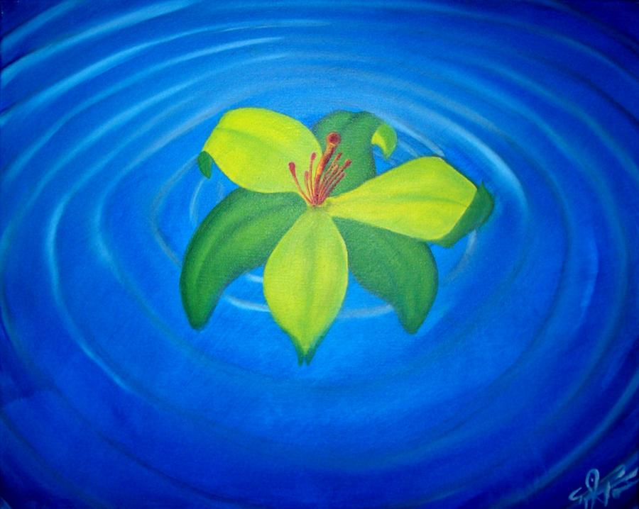 Causal Nexus Of Serenity Painting by Tyrone Paz