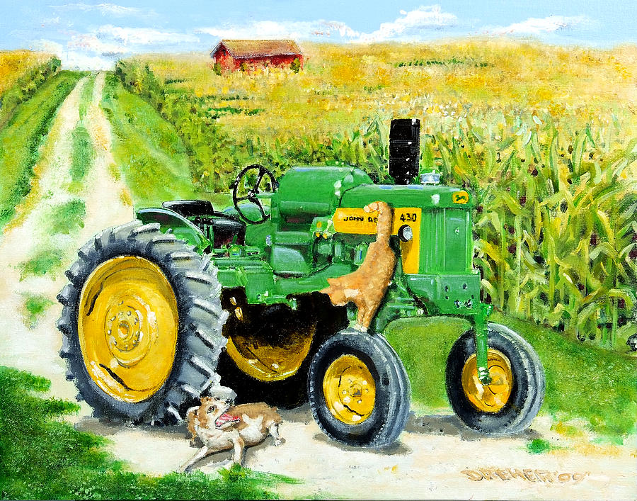 Tractor Painting - Causing Trouble by Chris Dreher