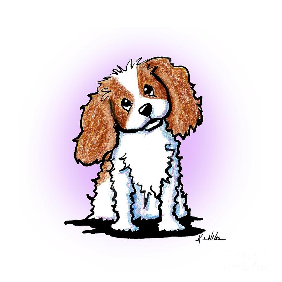 King Charles Spaniel Drawing - Cavalier King Charles Cutie by Kim Niles