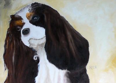 Cavalier King Charles Painting by Dick Larsen