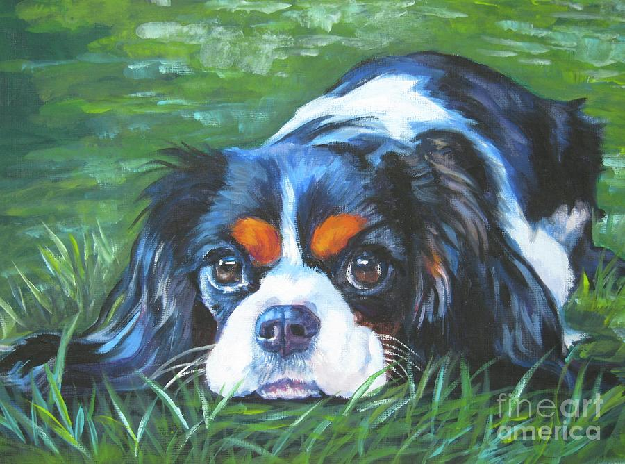 Cavalier King Charles Spaniel Painting - Cavalier King Charles Spaniel Tricolor by Lee Ann Shepard