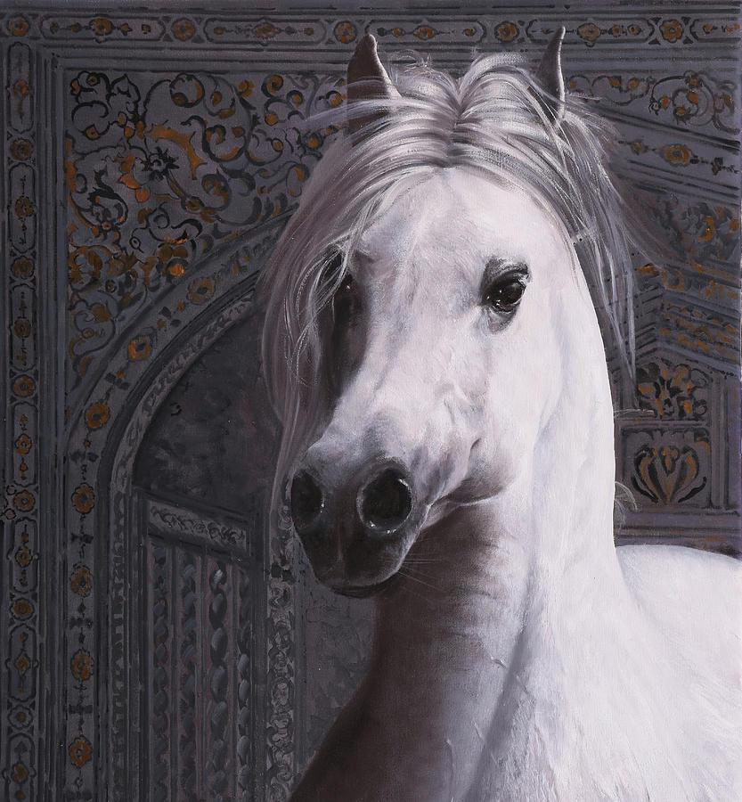 Cavallo Col Ciuffo Painting