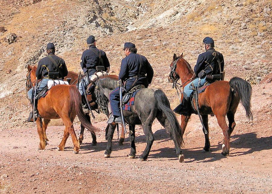 Reenactor Photograph - Cavalry Rides by Bill Mollet