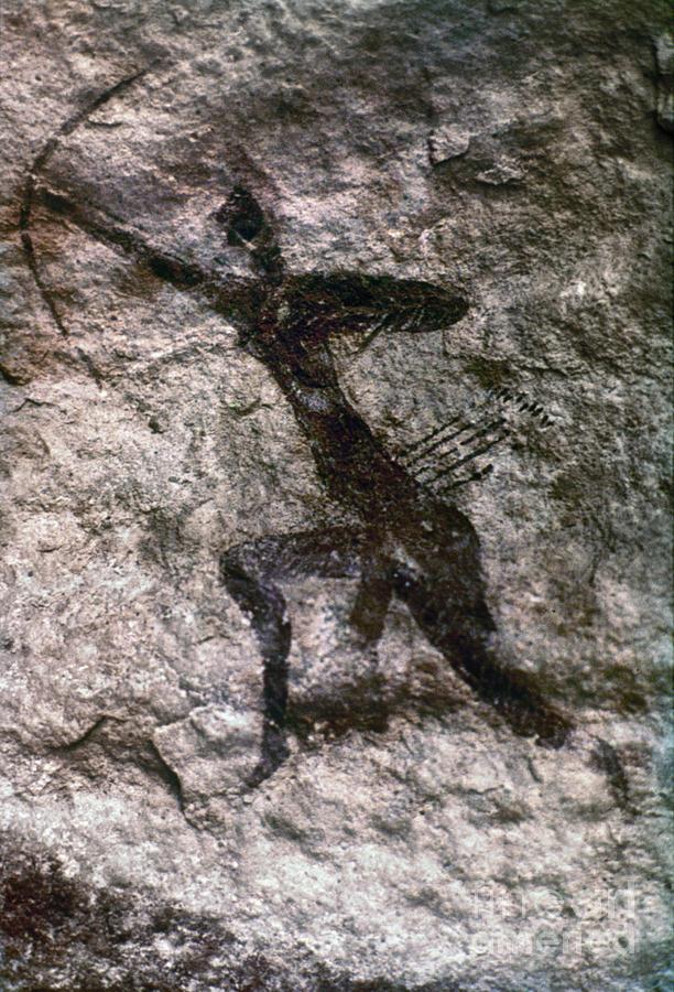 African Photograph - Cave Art, Algeria by Granger