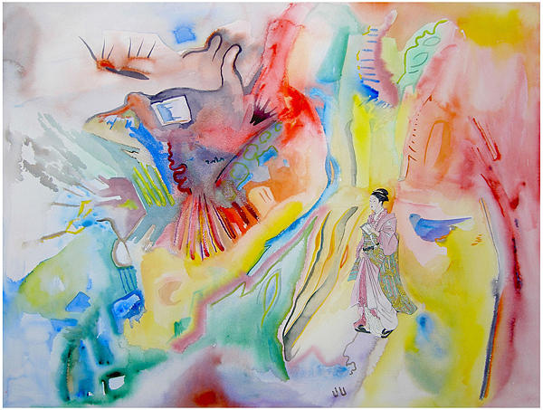 Abstract Painting - Cave Art by Lea Cox