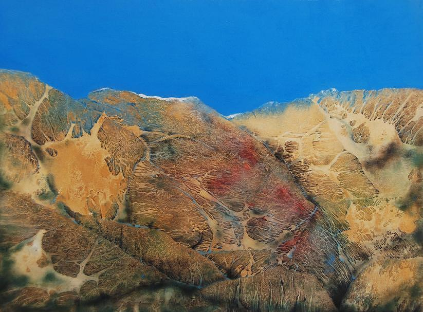 Mountain Painting - Cave Dweller by Shirley McMahon