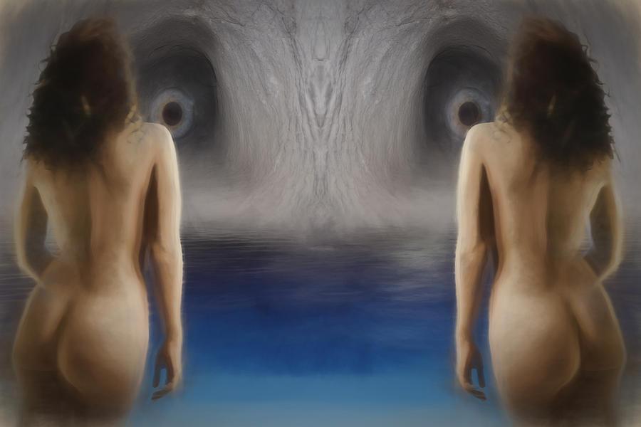 Cave Digital Art - Cave Eyes by John Haldane