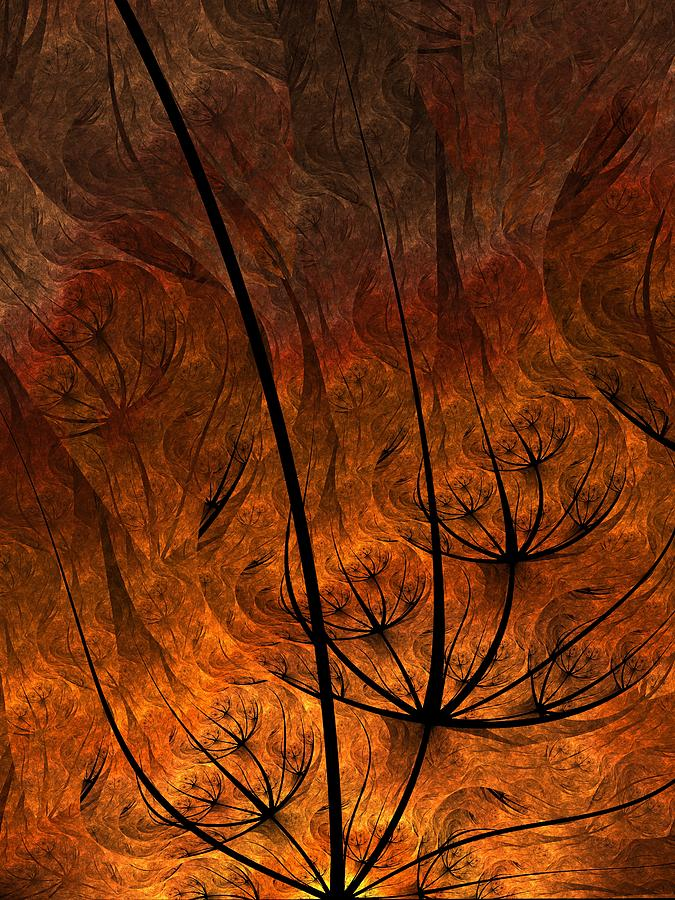 Fractal Digital Art - Cave Painting by Ian Duncan Anderson