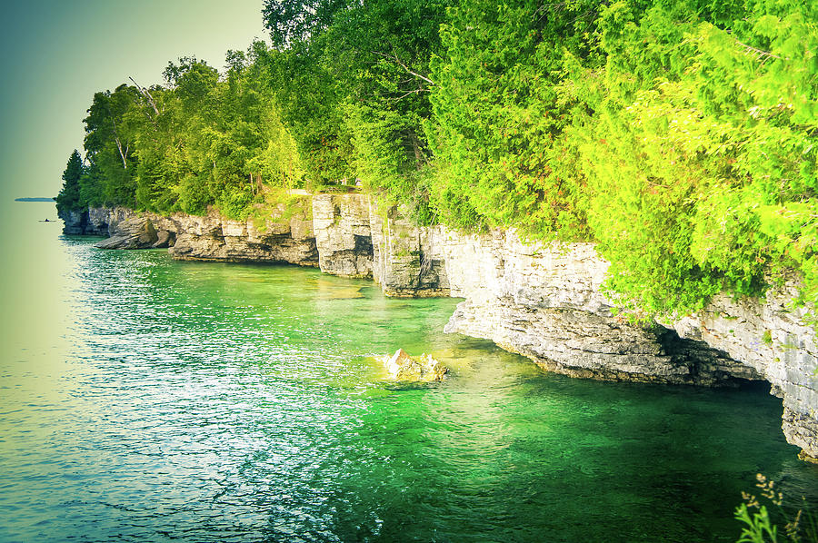 Cave Point Photograph - Cave Point County Park II by Art Spectrum