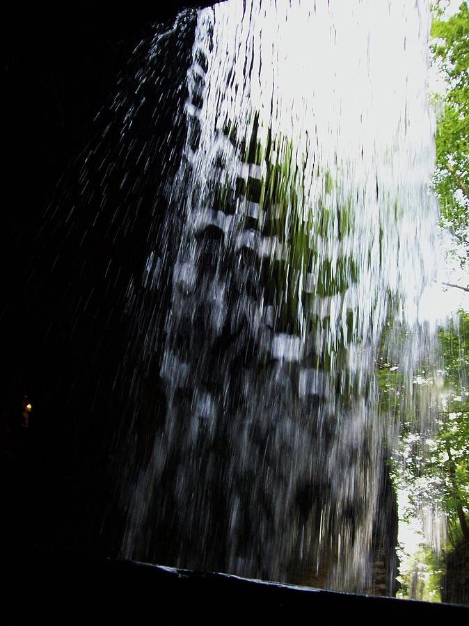 Watkins Glen Photograph - Cavern Cascade Watkins Glen by InTheSane DotCom