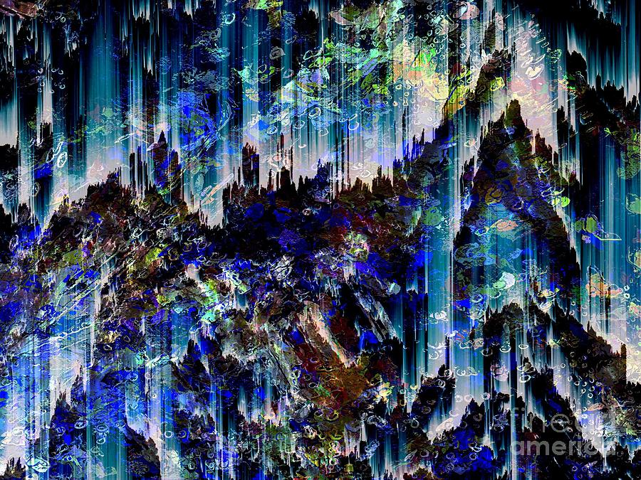 Abstract Digital Art - Cavern by Cooky Goldblatt