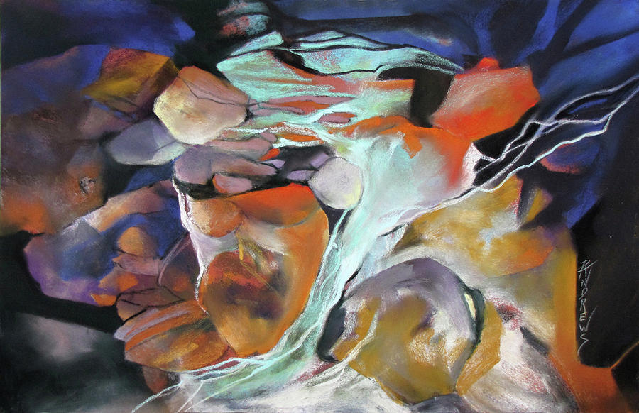 Abstract Painting - Cavernous Tumble by Rae Andrews
