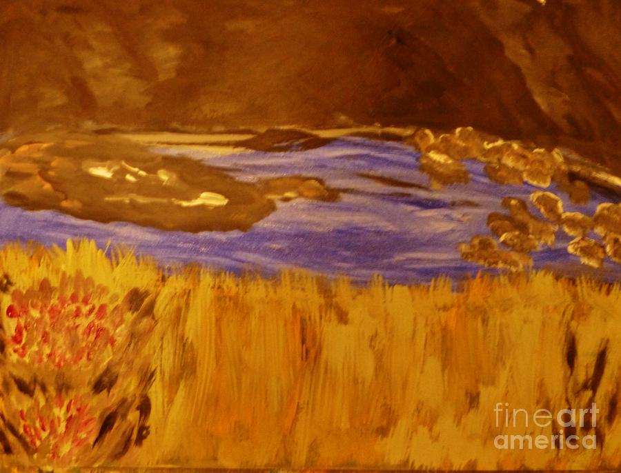 Painting - Caves And Watet by Marie Bulger