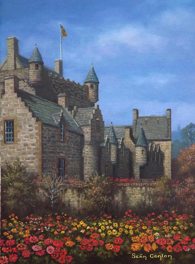 Castle Painting - Cawdor Castle In Summertime by Sean Conlon